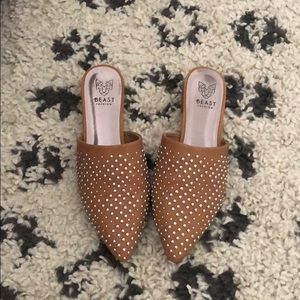 Size 8 studded mules